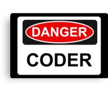 Danger Coder - Warning Sign Canvas Print