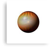 Orange Star Globe Canvas Print
