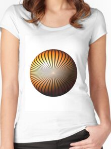 Orange Star Globe Women's Fitted Scoop T-Shirt