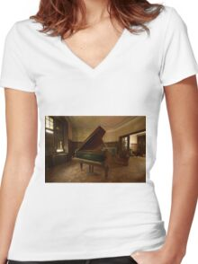 The piano song Women's Fitted V-Neck T-Shirt