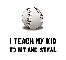 Hit And Steal Baseball Photographic Print