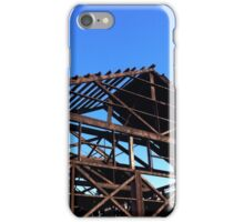 Skeleton frame heritage industrial building Vancouver BC iPhone Case/Skin