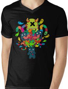 Monster Brains Mens V-Neck T-Shirt
