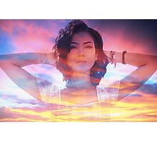 Jhene Aiko Sunset Seas Photographic Print