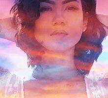 Jhene Aiko Sunset Seas Sticker