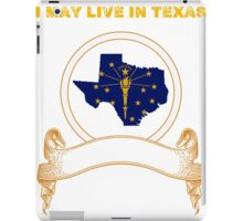 Live in Texas But Made in Indiana iPad Case/Skin