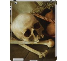 Still life with bones and onions iPad Case/Skin