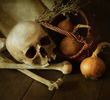 Still life with bones and onions by JBlaminsky