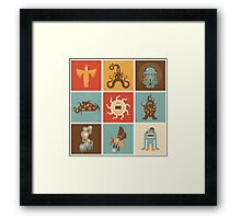 The Lovecraftian Squares Framed Print