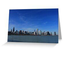 Chicago City Skyline Greeting Card