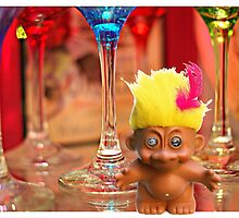 Yellow-Haired Troll in the Glass Cabinet by mentalembellish