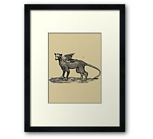 The Last Guardian - Trico Bestiary Image Framed Print