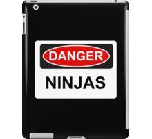 Danger Ninjas - Warning Sign iPad Case/Skin