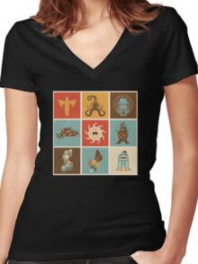 The Lovecraftian Squares Women's Fitted V-Neck T-Shirt
