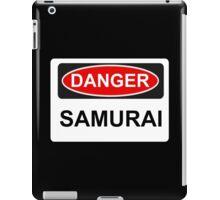 Danger Samurai - Warning Sign iPad Case/Skin