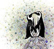 Iceberg Penguin Kiss by historicnature