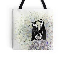 Iceberg Penguin Kiss Tote Bag
