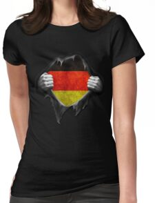Germany Flag. Proud German Womens Fitted T-Shirt