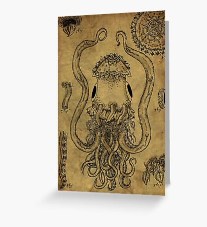 The Impossible Cephalopod Greeting Card