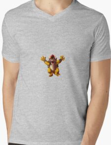 Bowser  Mens V-Neck T-Shirt