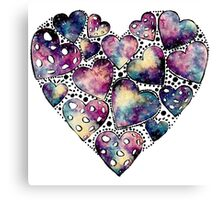 Watercolor Funny Heart  Canvas Print