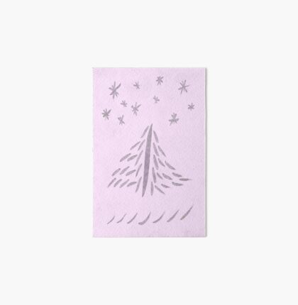 Pinked Xmas Tree Art Board