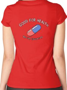 Good for Health, Bad for Education Women's Fitted Scoop T-Shirt