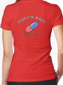 Good for Health, Bad for Education Women's Fitted V-Neck T-Shirt
