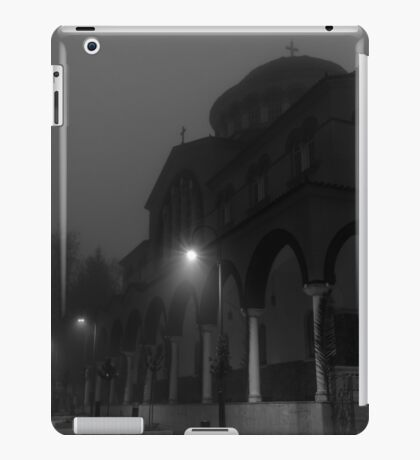 Low Angle View Of Church Structure Against Clear Sky iPad Case/Skin