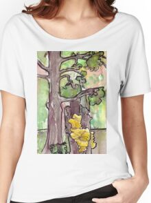 Trees with Yellow Fungus Women's Relaxed Fit T-Shirt