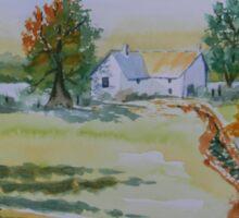 Farmhouse and Church Landscape Sticker