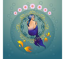 The journey of the mermaid in blue Photographic Print