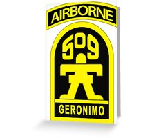 509th Airborne Greeting Card