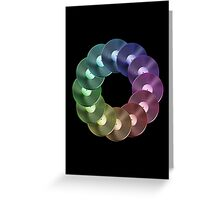 Ring of Vinyl LP Records - Metallic - Rainbow Greeting Card
