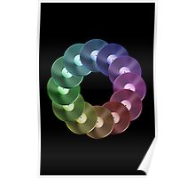 Ring of Vinyl LP Records - Metallic - Rainbow Poster