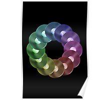 Ring of Vinyl LP Records - Metallic - Rainbow Poster
