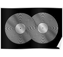 Vinyl Record Infinity - Mobius Strip - Metallic - Silver Poster