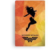 Wonderwoman Minimal Poster Canvas Print