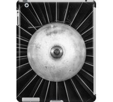Closeup of a jet engine of an aircraft iPad Case/Skin