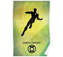 Green Lantern Minimal Poster Poster