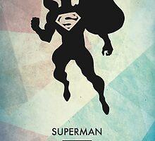 Superman Minimal Poster by Jelsier