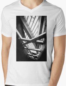 Modern conceptual high tech building Mens V-Neck T-Shirt
