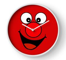 Funny Cartoon Face Clock Clock