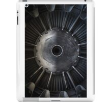 Closeup photo of a jet engine iPad Case/Skin
