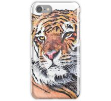 Tiger 1 - Watercolor - White Background iPhone Case/Skin
