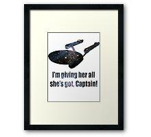 Starship Enterprise Framed Print