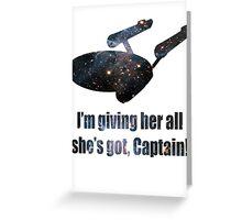Starship Enterprise Greeting Card
