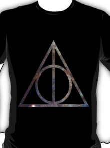 Deathly Hallows Blue Galaxy T-Shirt