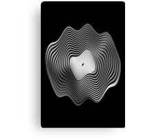 Warped Vinyl LP Record - Metallic - Steel Canvas Print
