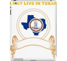 Live in Texas But Made in Virginia iPad Case/Skin
